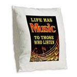 MUSIC Burlap Throw Pillow