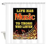 MUSIC Shower Curtain