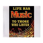 MUSIC Throw Blanket