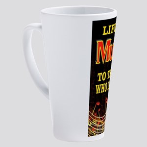 MUSIC 17 oz Latte Mug