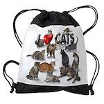 Drawstring Bag I Love Cats