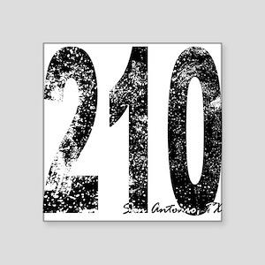 San Antonio Area Code 210 Sticker