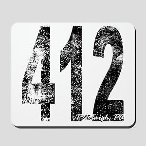 Pittsburgh Area Code 412 Mousepad
