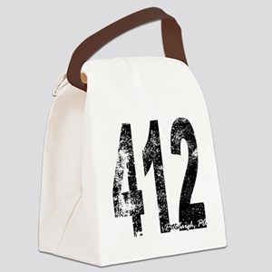 Pittsburgh Area Code 412 Canvas Lunch Bag