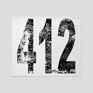 Pittsburgh Area Code 412 Throw Blanket