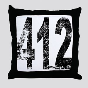 Pittsburgh Area Code 412 Throw Pillow