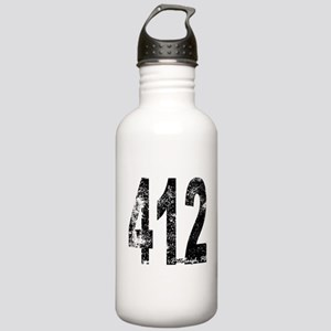 Pittsburgh Area Code 412 Water Bottle