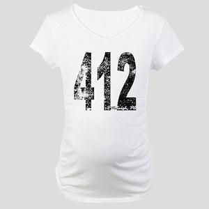 Pittsburgh Area Code 412 Maternity T-Shirt