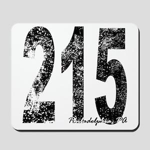 Philadelphia Area Code 215 Mousepad