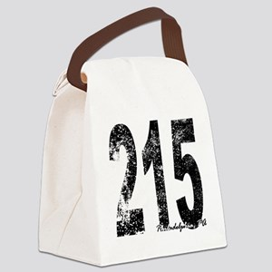 Philadelphia Area Code 215 Canvas Lunch Bag