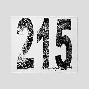 Philadelphia Area Code 215 Throw Blanket