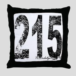 Philadelphia Area Code 215 Throw Pillow