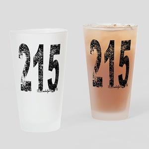 Philadelphia Area Code 215 Drinking Glass