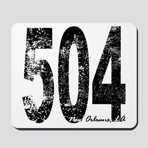 New Orleans Area Code 504 Mousepad