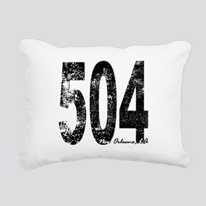 New Orleans Area Code 504 Rectangular Canvas Pillo