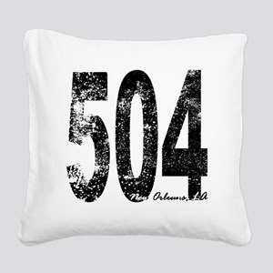 New Orleans Area Code 504 Square Canvas Pillow