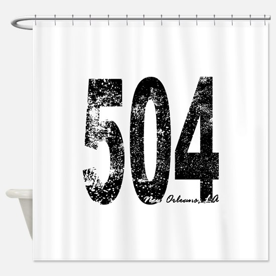 New Orleans Area Code 504 Shower Curtain