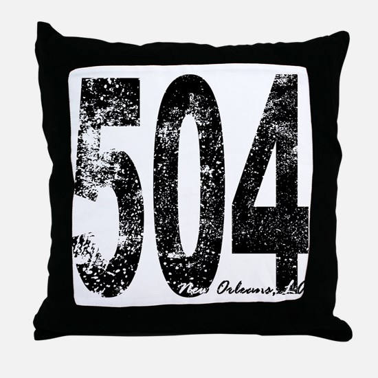 New Orleans Area Code 504 Throw Pillow