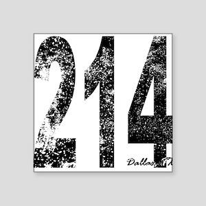 Dallas Area Code 214 Sticker