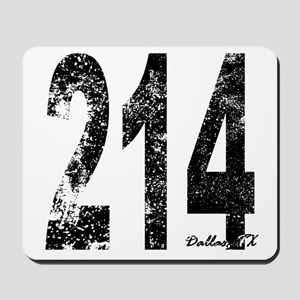 Dallas Area Code 214 Mousepad