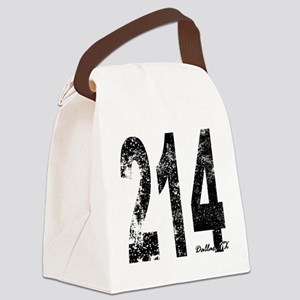 Dallas Area Code 214 Canvas Lunch Bag