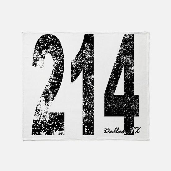 Dallas Area Code 214 Throw Blanket
