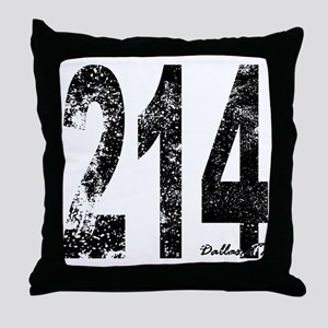 Dallas Area Code 214 Throw Pillow