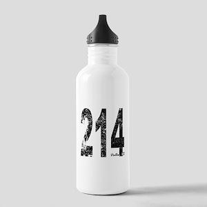 Dallas Area Code 214 Water Bottle