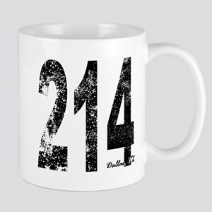 Dallas Area Code 214 Mugs