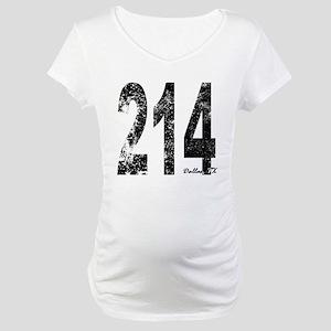 Dallas Area Code 214 Maternity T-Shirt