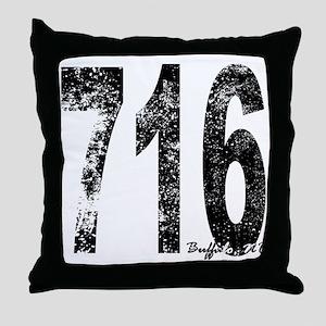 Buffalo Area Code 716 Throw Pillow