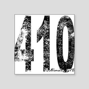 Baltimore Area Code 410 Sticker