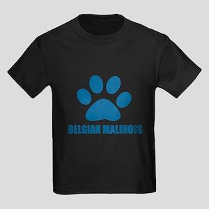 Belgian Malinois Dog Designs Kids Dark T-Shirt