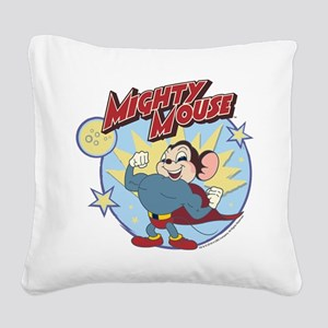 Mighty Mouse: Hero Pose Square Canvas Pillow