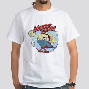 Mighty Mouse: Hero Pose White T-Shirt