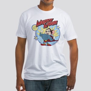 Mighty Mouse: Hero Pose Fitted T-Shirt