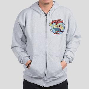 Mighty Mouse: Hero Pose Zip Hoodie