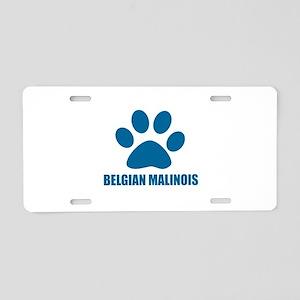 Belgian Malinois Dog Design Aluminum License Plate