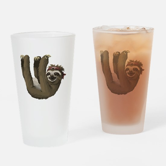Cool Sloths Drinking Glass