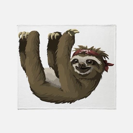 Cool Sloth Throw Blanket