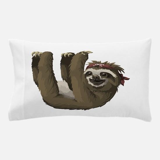 skull sloth Pillow Case