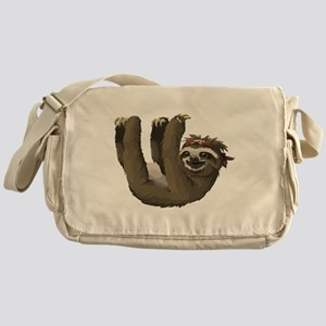 skull sloth Messenger Bag