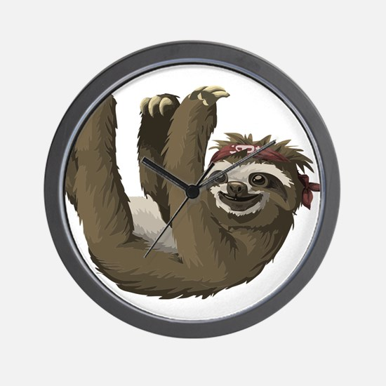 skull sloth Wall Clock