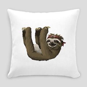 skull sloth Everyday Pillow