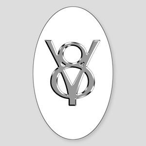 V8 Chrome Oval Sticker