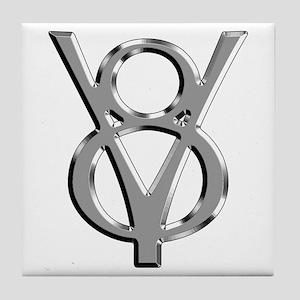 V8 Chrome Tile Coaster