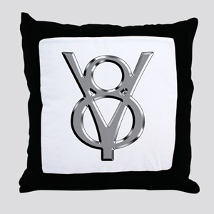 V8 Chrome Throw Pillow
