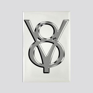 V8 Chrome Rectangle Magnet