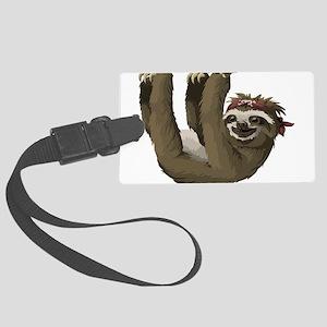 skull sloth Large Luggage Tag