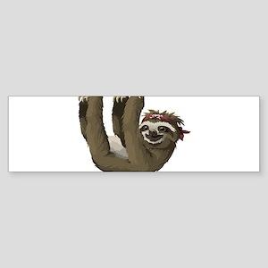 skull sloth Bumper Sticker